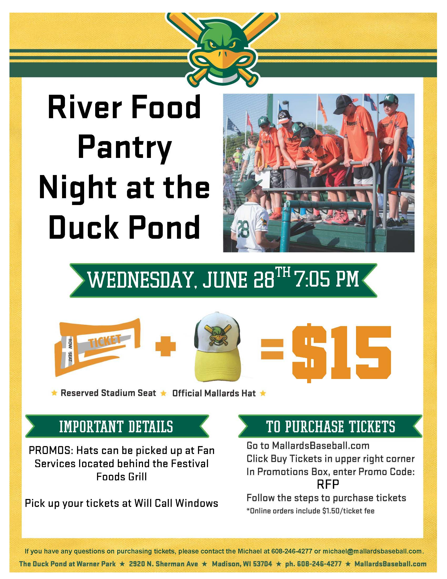 River Food Panty Info Flyer